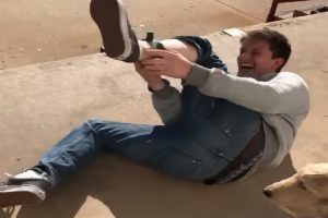 Guy Tests A Shock Collar On His Leg, Immediately Regrets That Decision 10