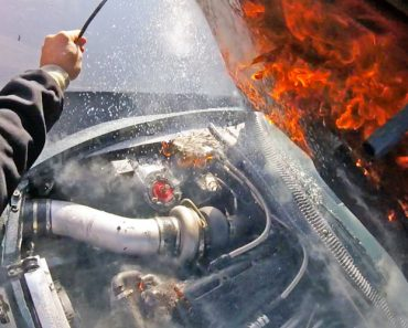 Race Car Catches On Fire And The Driver's Commentary Is Hilarious 6