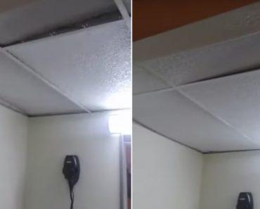 """""""Ghost"""" Ruffles Ceiling In Hotel Room 5"""