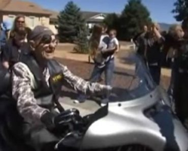 101 Year Old Man Gets One Last Ride On A Harley 5