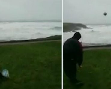 This Is What Happens When Kildare GAA Star Kicks Football Into Storm Eleanor 9
