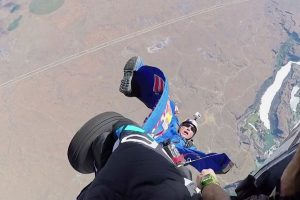 Heartstopping Footage Captures Skydiver Trailing From Plane In Mid-Air 11