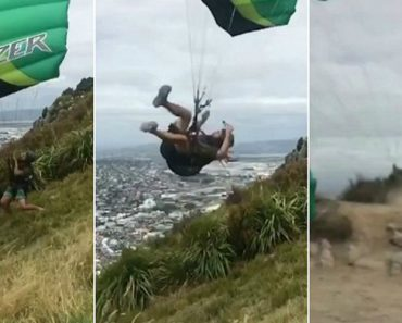 Moment Paraglider Is Slammed Onto Ground In Windy Conditions 5