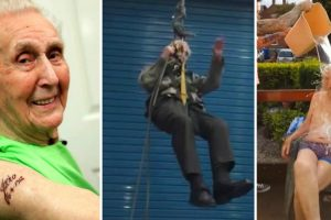 105-Year-Old Daredevil May Be the World's Oldest Man to Rappel 12