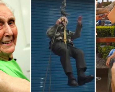 105-Year-Old Daredevil May Be the World's Oldest Man to Rappel 4