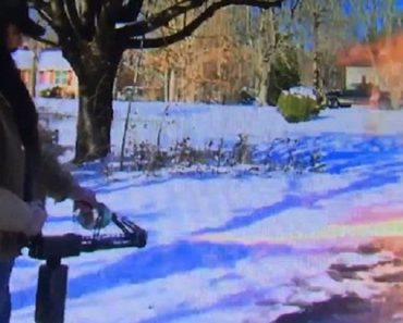 The Man Who Uses A Flamethrower To Clear His Driveway Of Snow 6