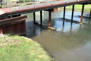 Water Displacement From Ship Causes Mini Tsunami In Canal 10