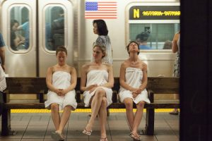 Here's What Happens When Pranksters Turn the NYC Subway Into a Spa 11