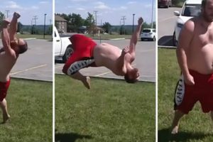 This Dude with a Dad Bod Will Leave You Impressed with His Remarkable Parkour Skills 12