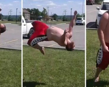 This Dude with a Dad Bod Will Leave You Impressed with His Remarkable Parkour Skills 7