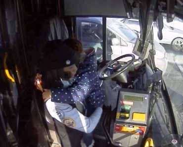 Bus Driver Comforts Crying Child After Mother Has Seizure on the Street 8
