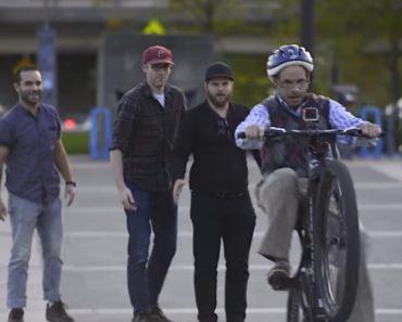 Prankster Asks Strangers To Help Him Ride A Bike 8