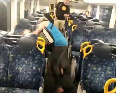 Sydney Train Fight Ends Bizarrely In A Hug 2