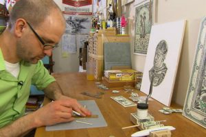 Meet The Man Who Makes Art By Destroying Money 10
