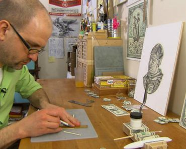 Meet The Man Who Makes Art By Destroying Money 7