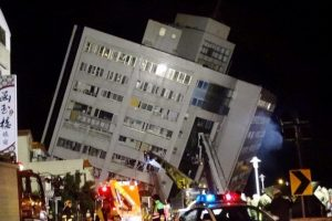 People Jump to Safety After Deadly Earthquake in Taiwan Collapses Buildings 10