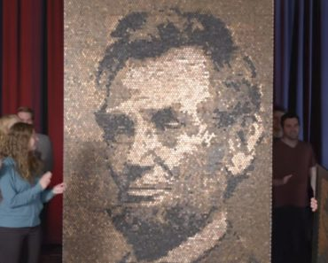 This Giant Lincoln Portrait Was Made From Tiny Lincoln Portraits on Pennies 6
