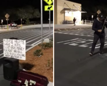 Talented Father Struggling To Pay Bills Plays Violin Outside Of Walmart For Money 3
