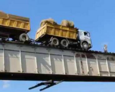 Is This Russian Bridge The Most Dangerous? See How Truck Driver Drives Over It! 8