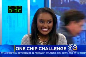News Anchor Destroys Her Co-Worker In The 'One Chip Challenge' 11