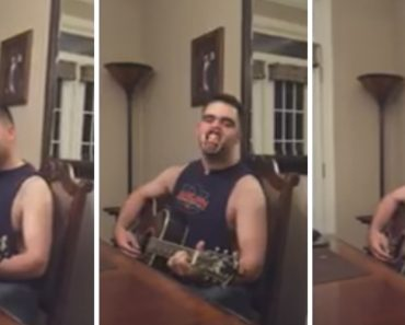 """Guy Sings """"Friends In Low Places"""" While Wearing """"Speak Out"""" Game Mouth Piece 9"""