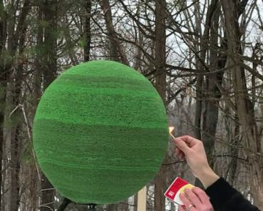 A Man Lights A Sphere Made Of 42,000 Matches And It's Stunning 7