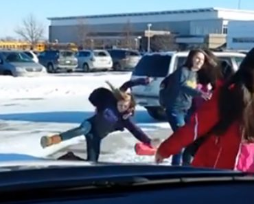 Dad Films 6 Minutes Of Students Slipping On Ice With Running Commentary 5