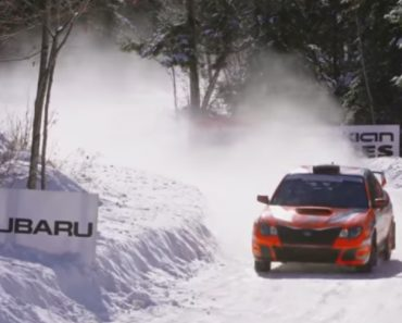 Rally Car Driver Rolls Vehicle Into A Snowbank And Somehow Keeps Going To Finish 2nd Overall 7