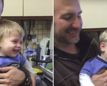 Baby Laughing While Brave Dad Sucks Out His Nose 7