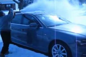 A Clever And Easy Way To Remove Snow From Cars 10