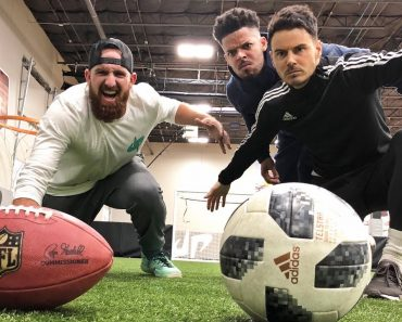 Dude Perfect Are Back With Awesome Football vs Soccer Trick Shots That'll Make You Speechless 2