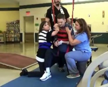 Physical Therapists Help Paralyzed Connecticut Man Get Down On One Knee To Propose 9