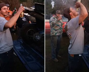 Man Literally Inhales Two Beers Blown In His Face By ATV Exhaust 3