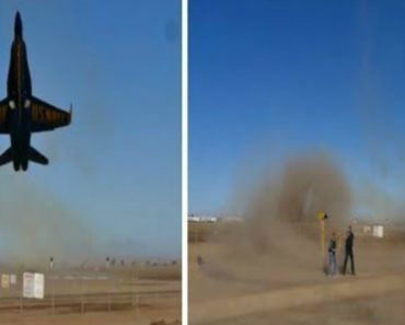 Hornet Pilot Raises Dust With Dramatic Low Takeoff Over Spectators' Heads 6