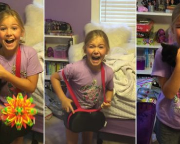 Girl Has Amazing Reaction After Mom Surprises Her With Kitten 3