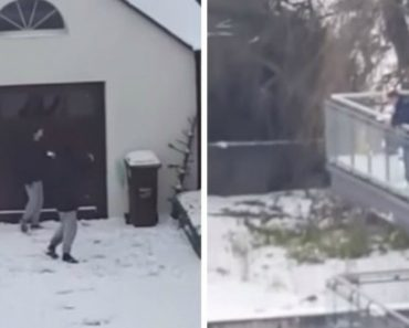 Police Officers Have SNOWBALL FIGHT With Cheeky Suspects Who Escape Their Clutches 9