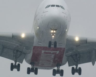 2 Massive Airbus A380 Landing With Crosswinds 6
