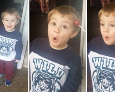 Little Kid Stunned To Learn Lollipop Stuck In His Hair 5