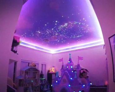 Dad Re-creates Disney's Fireworks Display on Daughter's Playroom Ceiling 5