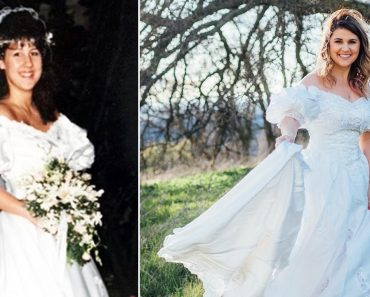 Woman Wears Late Mother's Wedding Dress in Touching Photo Shoot 4