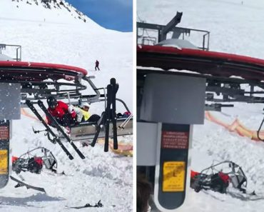 Watch Out-Of-Control Ski Lift Send People Flying 8