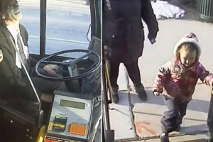 Bus Driver Gives 4-Year-Old Bestie a Sweet Gift on His Last Day of Route 10
