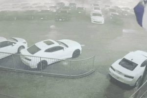 Security Video Shows Baseball-Sized Hail Pound The Crap Out Of A Bunch Of New Cars 10