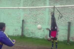 Argentina Doesn't Mess Around When It Comes To  Football. Check Out These Extreme Goalkeeper Training Drills! 10