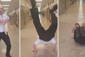Would You Dance For A Caramel Apple Pie? This Teacher Did! 11
