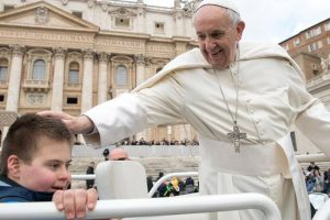 12-Year-Old Boy With Down Syndrome Gets Kiss From Pope After Battling Cancer 12