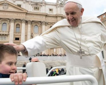 12-Year-Old Boy With Down Syndrome Gets Kiss From Pope After Battling Cancer 1