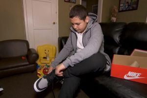 13-Year-Old Rescued From Sewer Gets New Pair of Sneakers 12