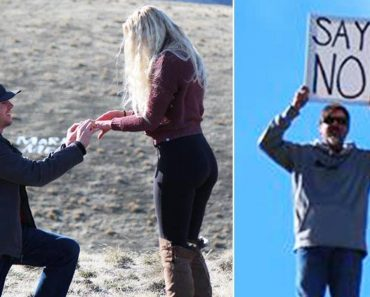 Dad Holds 'Say No' Sign as Daughter's Boyfriend Proposes 9
