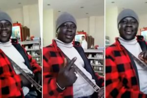 African Man Does Perfect Impression Of Men And Women's Parts In Bollywood Music 12